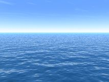 Clear Hot Summer Day Over Sea. A clear hot Summer day background over  sea Stock Photos