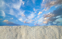 Clear hot water from thermal spring flows down in Pamukkale Royalty Free Stock Photography