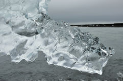 Clear ice crystal. Stock Image