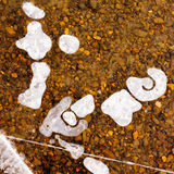 Clear Ice over Gravel Background Texture Pattern Royalty Free Stock Image