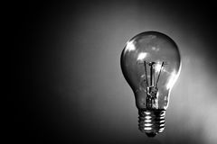 Clear incandescent light bulb Stock Photo