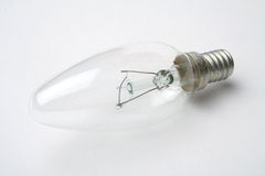 Clear incandescent light bulb Royalty Free Stock Image