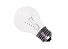 Clear Incandescent Light Bulb Stock Image