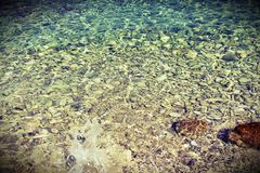 Clear Jadran sea stock photo