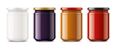 Clear Jar mockup. Big size royalty free stock photos