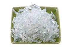 Clear Kelp Noodles (Sodium Alginate) Stock Photo