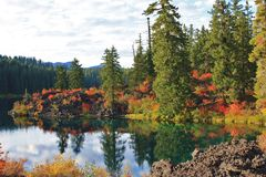 Clear Lake in Autumn Stock Photos