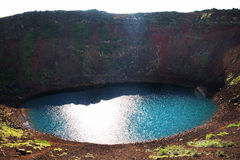 Clear Lake in the crater of an extinct volcano. Royalty Free Stock Images