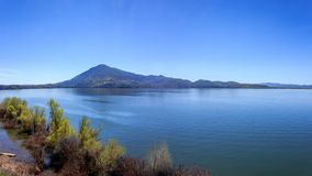 Clear Lake Panorama royalty free stock photography