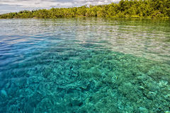 Clear lights on the reef in tropical paradise Royalty Free Stock Images