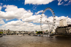 Clear the London Eye. London UK Royalty Free Stock Photos