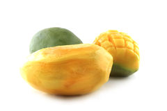 Clear mango isolated Royalty Free Stock Images