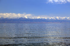 Clear mountain lake Issyk-Kul. Stock Photos