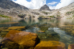 Clear Mountain Lake Landscape Royalty Free Stock Photos