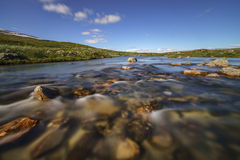 Clear mountain stream in Norway Royalty Free Stock Images