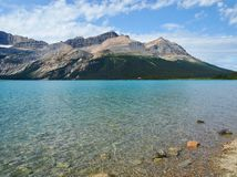 Clear mountion lake with a lot of free Space for text royalty free stock photo