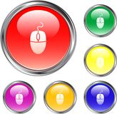Clear Mouse Button. This is a Clear Mouse Button for use in web design for the internet Stock Image