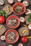 Clear mushroom soup Stock Photos