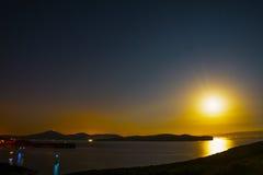 Clear night in Capo Caccia Stock Photo