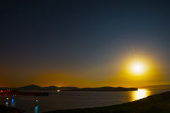 Clear night in Capo Caccia Royalty Free Stock Images