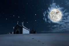 Clear night Halloween background Royalty Free Stock Images