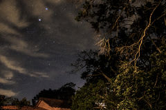 Clear Night Sky in Teresopolis, Rio de Janeiro, Brazil Royalty Free Stock Images