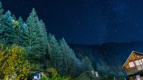 A clear night to see royalty free stock photography
