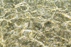 Clear ocean water surface with reflections for backgrounds Stock Image