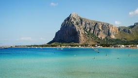 Clear Paradisiac sea San Vito Lo Capo Sicily Italy. Clear Paradisiac sea at San Vito Lo Capo Sicily Italy stock video footage