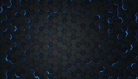 Free Clear Pattern Abstract Background Hexagon Black And Blue, Wallpaper Futuristic Royalty Free Stock Photo - 153639625