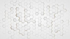 Clear pattern abstract background hexagon white. Wallpaper futuristic royalty free illustration