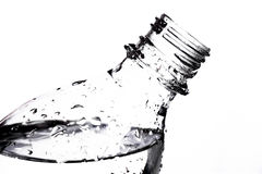 Clear PET bottle filled with water Royalty Free Stock Image