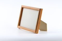 Clear picture-frame. Standing on the white background Stock Photos