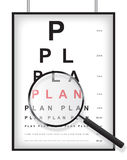 Clear plan in eyesight test concept Stock Photos