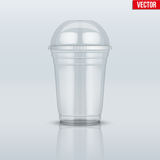 Clear plastic cup with sphere dome cap. Stock Image