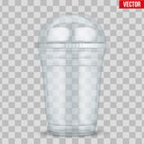 Clear plastic cup with sphere dome cap. For milkshake and lemonade and smoothie. Vector Illustration on transparent background vector illustration