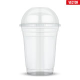 Clear plastic cup with sphere dome cap. Royalty Free Stock Photo