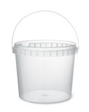 Clear plastic food bucket Royalty Free Stock Photography