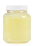 Clear plastic jar stock photos