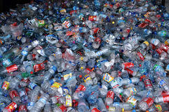 Clear plastic recycling royalty free stock images