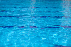 Clear pool water ripple Stock Photos