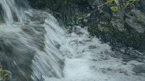 Clear potable running water stream stock video footage