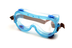 Clear protective goggle. Isolated on white background Royalty Free Stock Photography