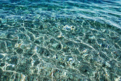 Clear, pure and transparent sea water Stock Photo
