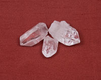 Clear quartz crystal Royalty Free Stock Images