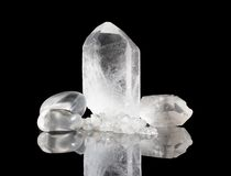 Clear Quartz Rock crystals Royalty Free Stock Photos