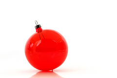 Clear red crystal christmas ornament Stock Photography