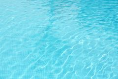 Clear refreshing water in swimming pool, closeup Royalty Free Stock Image