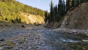 Clear river. River canyon in the rocky mountains Royalty Free Stock Image