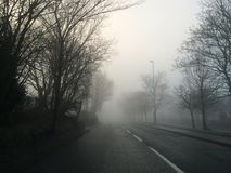 Clear road. A misty road leading lines Royalty Free Stock Photography